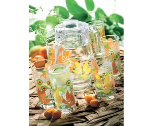 Luminarc (Arcopal) Набор Pop Flowers Orange для напитков 7 пр. D3183