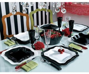 Luminarc (Arcopal) Сервиз Authentic Black&White столовый 30 пр. E6199