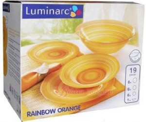 Luminarc (Arcopal) Сервиз Rainbow Orange столовый 19 пр. G4446