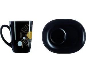 Luminarc (Arcopal) Сервиз Sequins Black чайный 12 пр. E8065