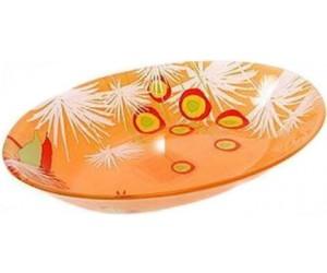 Luminarc Блюдо овальное 22 см Pop flowers orange C6209