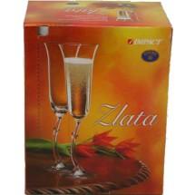 Bohemia Набор бокалов Zlata для шампанского 2 шт. 40697/190