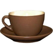 Чашка VILA RICA Табако-Крем чайная с блюдцем 250 мл. 24-171-053