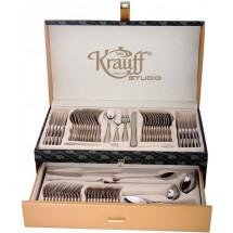 Krauff Столовый набор 72 пр. в кожаном чемодане 29-189-040