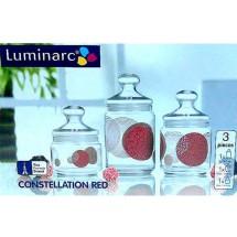 Luminarc (Arcopal) Набор банок Constellation Red 3 пр. H9958