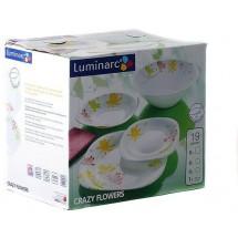 Luminarc (Arcopal) Сервиз Crazy Flower столовый 19 пр. E8047