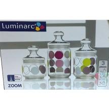 Luminarc Набор банок Zoom White 3 пр. H9975
