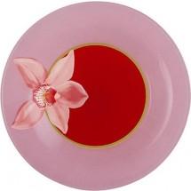 Luminarc Тарелка десертная 19 см. Red Orchis G0657