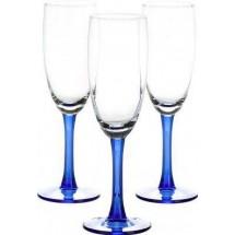 LIBBEY Набор бокалов для шампанского 3 шт. Clarity 31-225-091 син