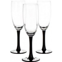 LIBBEY Набор бокалов для шампанского 3 шт. Clarity 31-225-092 черн