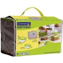 Luminarc (Arcopal) Набор емкостей 3 шт. + сумка для ланча Keep'n'Box J0043