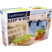 Luminarc (Arcopal) Набор емкостей 3 шт. Keep'n'Box + сумка-холодильник H9936
