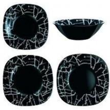 Luminarc (Arcopal) Сервиз Dripping Black столовый 19 пр. G9673